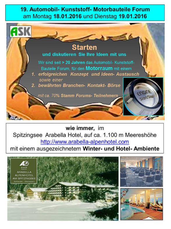 19. Automobil- Kunststoff- Motorbauteile Forum